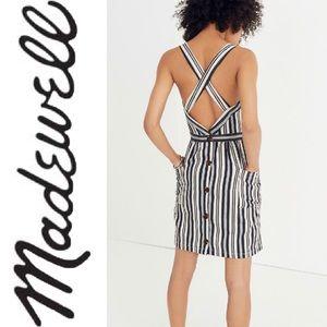 •Madewell• NWT Apron Mini Dress in Evelyn Stripe